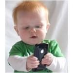 Als een baby al een iPhone heeft...