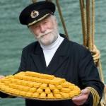 Kapitein Iglo met vers gevangen vissticks