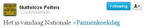 Dé tweet over Pannenkoekdag