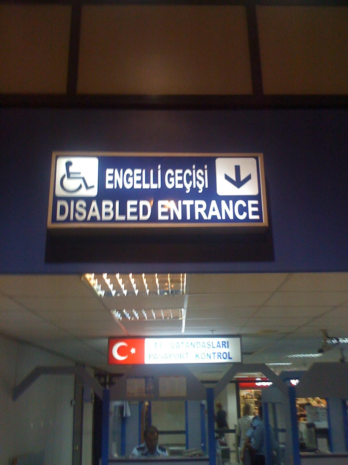 Een gehandicapte ingang?